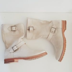 Frye Shoes - NWOT FRYE IVORY TALL NATALIE LEATHER BOOTS